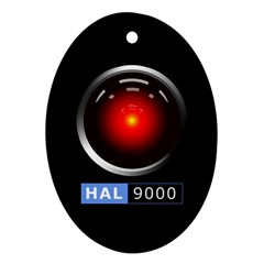 Hal 9000 Oval Ornament (two Sides) by linceazul