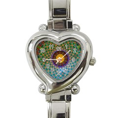Temple Abstract Ceiling Chinese Heart Italian Charm Watch