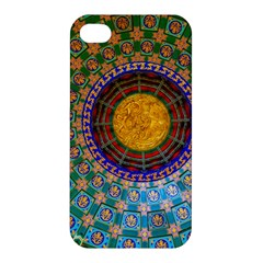 Temple Abstract Ceiling Chinese Apple Iphone 4/4s Premium Hardshell Case by Nexatart