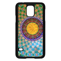 Temple Abstract Ceiling Chinese Samsung Galaxy S5 Case (black) by Nexatart
