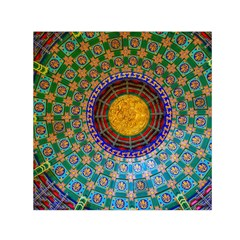 Temple Abstract Ceiling Chinese Small Satin Scarf (square) by Nexatart