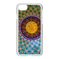 Temple Abstract Ceiling Chinese Apple Iphone 7 Seamless Case (white) by Nexatart