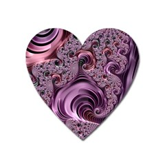 Abstract Art Fractal Art Fractal Heart Magnet by Nexatart