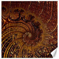 Copper Caramel Swirls Abstract Art Canvas 12  X 12