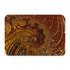 Copper Caramel Swirls Abstract Art Plate Mats by Nexatart