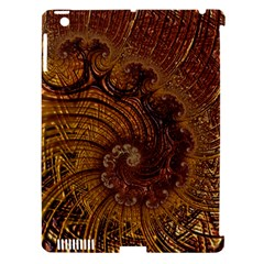 Copper Caramel Swirls Abstract Art Apple Ipad 3/4 Hardshell Case (compatible With Smart Cover) by Nexatart