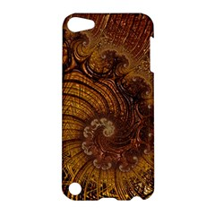 Copper Caramel Swirls Abstract Art Apple Ipod Touch 5 Hardshell Case by Nexatart
