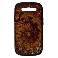 Copper Caramel Swirls Abstract Art Samsung Galaxy S Iii Hardshell Case (pc+silicone)