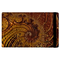 Copper Caramel Swirls Abstract Art Apple Ipad 3/4 Flip Case