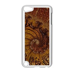 Copper Caramel Swirls Abstract Art Apple Ipod Touch 5 Case (white) by Nexatart