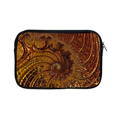 Copper Caramel Swirls Abstract Art Apple Ipad Mini Zipper Cases by Nexatart