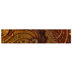 Copper Caramel Swirls Abstract Art Flano Scarf (small)