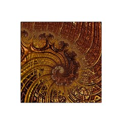 Copper Caramel Swirls Abstract Art Satin Bandana Scarf