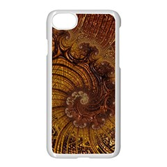 Copper Caramel Swirls Abstract Art Apple Iphone 7 Seamless Case (white) by Nexatart