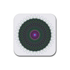 Pattern District Background Rubber Coaster (square)  by Nexatart