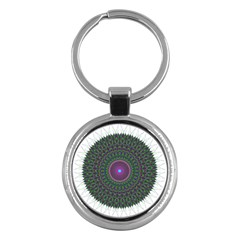 Pattern District Background Key Chains (round)  by Nexatart