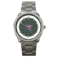 Pattern District Background Sport Metal Watch by Nexatart