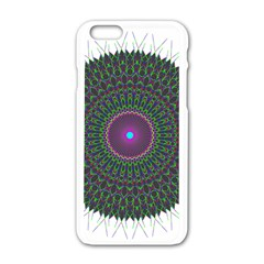 Pattern District Background Apple Iphone 6/6s White Enamel Case by Nexatart