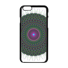 Pattern District Background Apple Iphone 6/6s Black Enamel Case by Nexatart