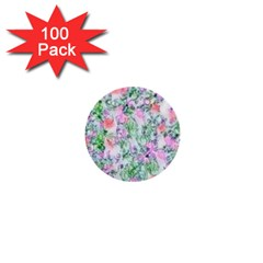 Softly Floral A 1  Mini Buttons (100 Pack)  by MoreColorsinLife
