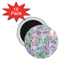 Softly Floral A 1 75  Magnets (10 Pack)  by MoreColorsinLife