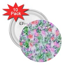 Softly Floral A 2 25  Buttons (10 Pack)  by MoreColorsinLife