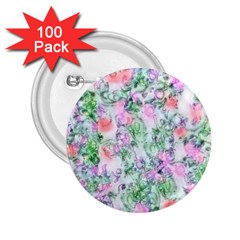 Softly Floral A 2 25  Buttons (100 Pack)  by MoreColorsinLife