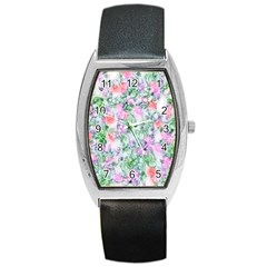 Softly Floral A Barrel Style Metal Watch by MoreColorsinLife