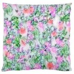 Softly Floral A Large Cushion Case (two Sides) by MoreColorsinLife