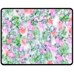Softly Floral A Double Sided Fleece Blanket (medium)  by MoreColorsinLife