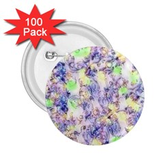 Softly Floral B 2 25  Buttons (100 Pack)  by MoreColorsinLife