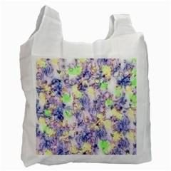 Softly Floral B Recycle Bag (one Side) by MoreColorsinLife