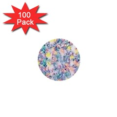 Softly Floral C 1  Mini Buttons (100 Pack)  by MoreColorsinLife