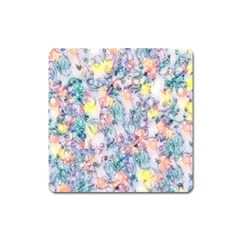 Softly Floral C Square Magnet by MoreColorsinLife