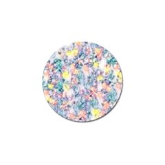 Softly Floral C Golf Ball Marker by MoreColorsinLife