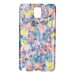 Softly Floral C Samsung Galaxy Note 3 N9005 Hardshell Case by MoreColorsinLife