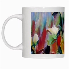 Abstractionism Spring Flowers White Mugs by DeneWestUK