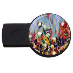 Abstractionism Spring Flowers Usb Flash Drive Round (4 Gb)