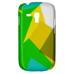 Green Yellow Shapes  Samsung Galaxy Ace Plus S7500 Hardshell Case by LalyLauraFLM