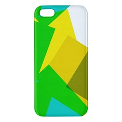 Green Yellow Shapes  Samsung Galaxy Note 3 Leather Folio Case by LalyLauraFLM