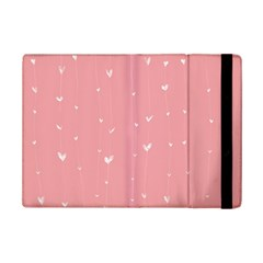 Pink Background With White Hearts On Lines Ipad Mini 2 Flip Cases by TastefulDesigns