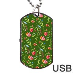 Sunny Garden I Dog Tag Usb Flash (two Sides) by tarastyle