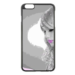 Angel Apple Iphone 6 Plus/6s Plus Black Enamel Case by mugebasakart