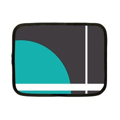 Turquoise Line Netbook Case (small)  by mugebasakart