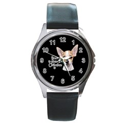 Chihuahua Round Metal Watch by Valentinaart