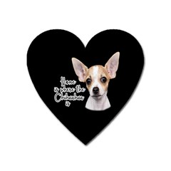 Chihuahua Heart Magnet by Valentinaart