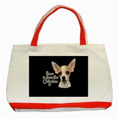 Chihuahua Classic Tote Bag (red) by Valentinaart