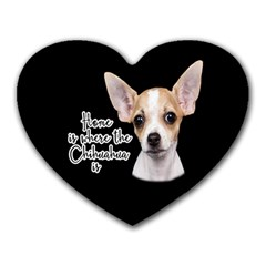 Chihuahua Heart Mousepads by Valentinaart
