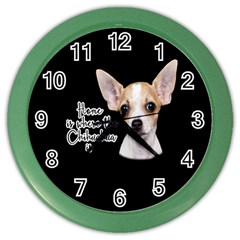 Chihuahua Color Wall Clocks by Valentinaart