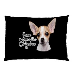 Chihuahua Pillow Case by Valentinaart